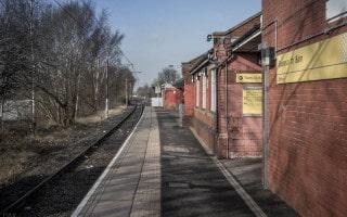 Platform at Besses o' th' Barn Metrolink Station