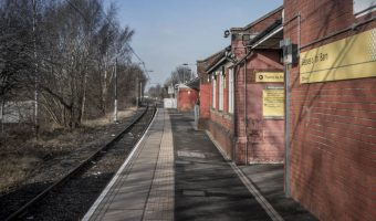 Platform at Besses o' th' Barn Metrolink Station