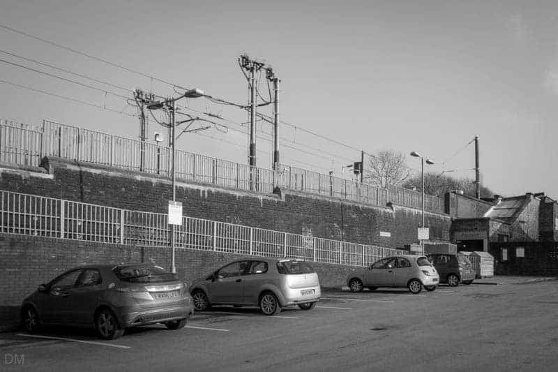 Car park at Prestwich Metrolink Station.