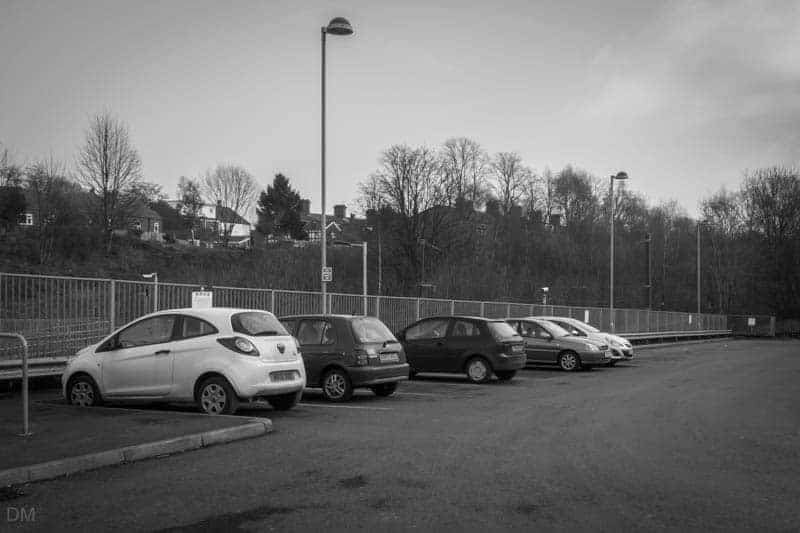 Car park at Crumpsall Metrolink Station.