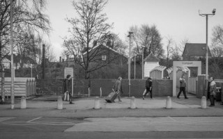 Passengers walking to Crumpsall Metrolink Station.