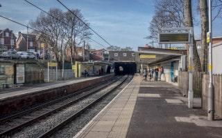 Platforms at Whitefield Metrolink Station