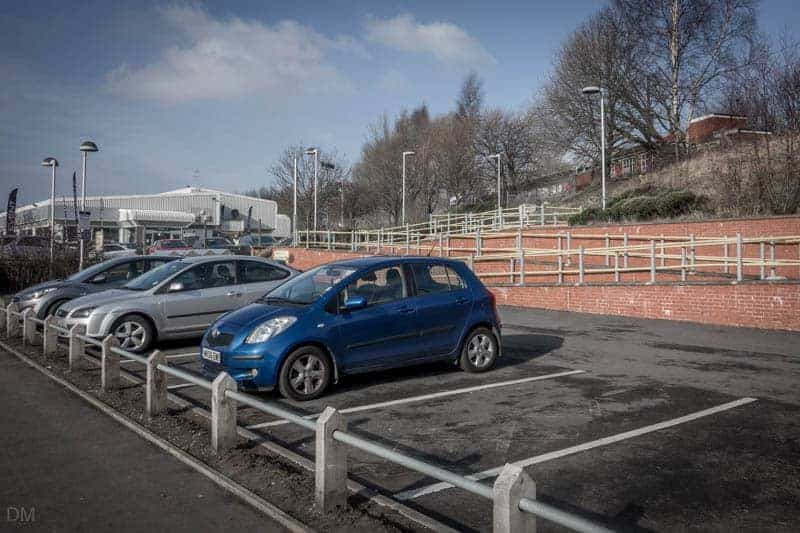 Car park at Besses o' th' Barn Metrolink Station