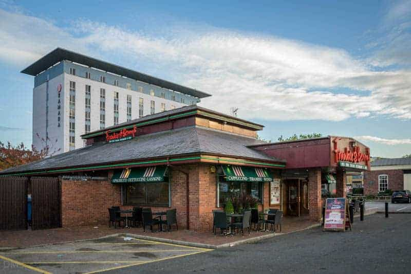 Ramada hotel and Frankie & Benny's restaurant at Capital Quay, Salford Quays