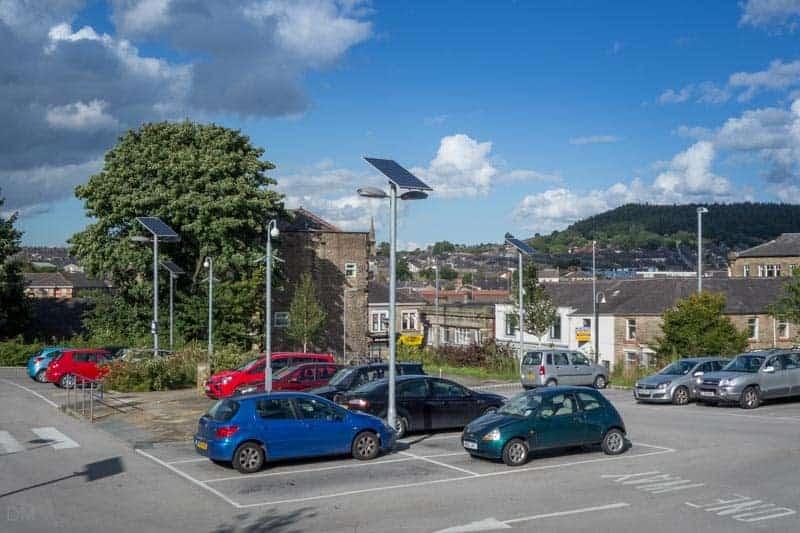 Car park at Accrington Train Station