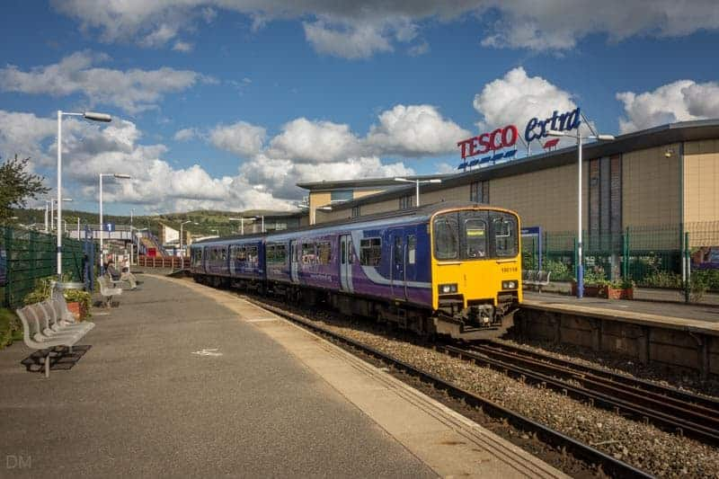 Train at Accrington Train Station, Lancashire