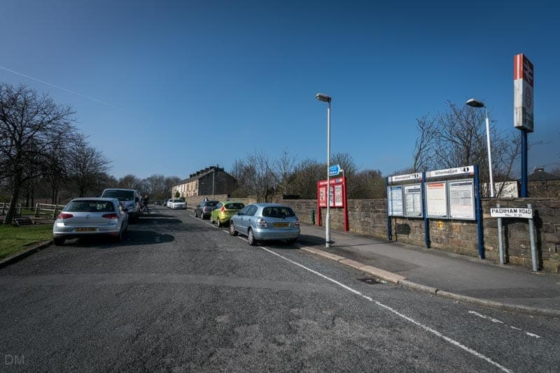 Parking on Padiham Road, near Burnley Barracks Train Station