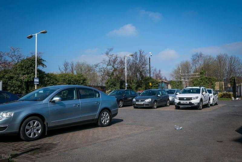 Car park at Burnley Central Train Station