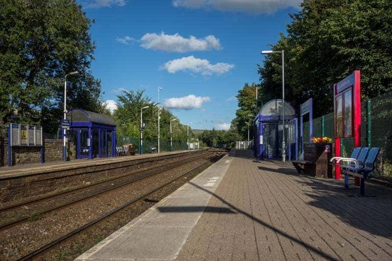 Platforms at Church and Oswaldtwistle Train Station