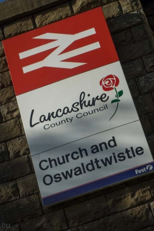 Church and Oswaldtwistle Train Station