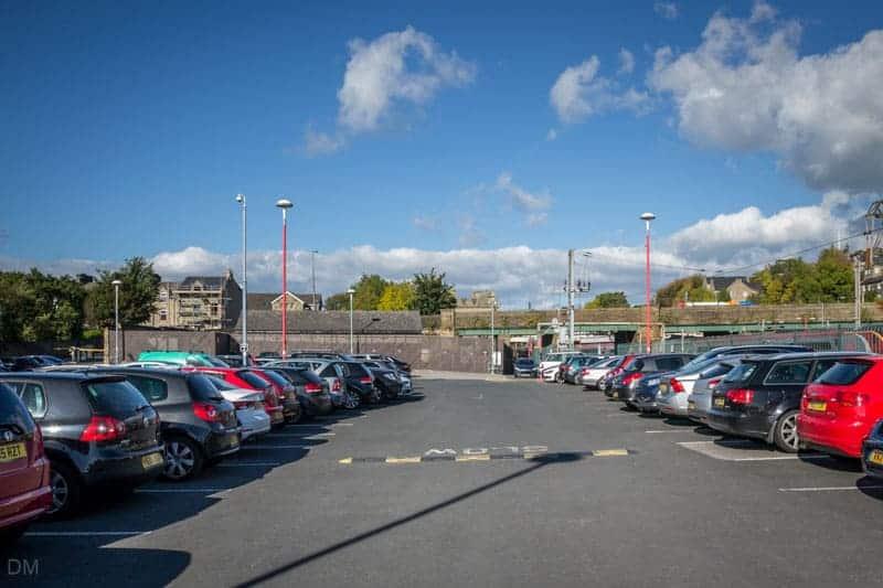 Long-stay car park at Lancaster Train Station