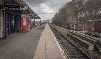 Station platform at Rochdale Train Station