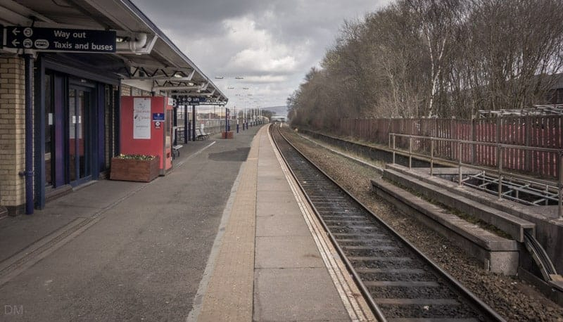 Station platform at Rochdale Train Station