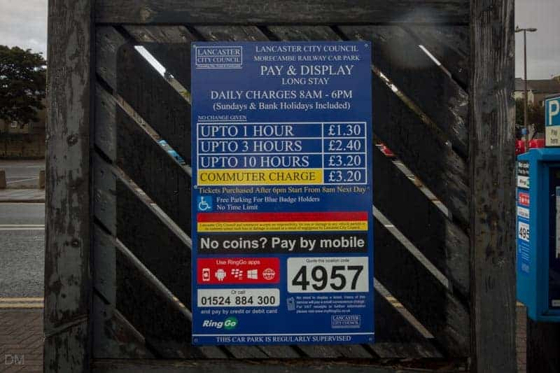 Morecambe Railway Car Park - Charges October 2015