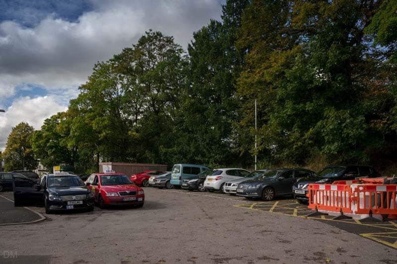 Car park on Golden Hill at Leyland Train Station