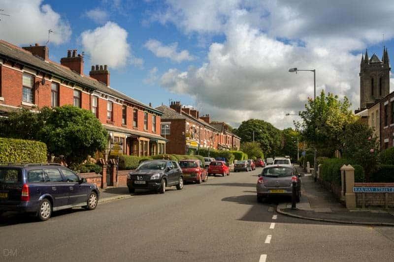 Parking on Moss Lane in Leyland, Lancashire.