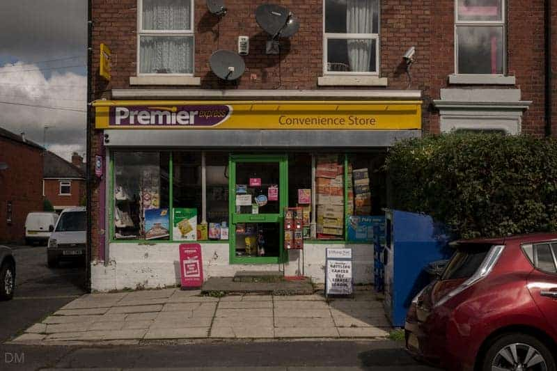 Premier convenience store on Moss Lane in Leyland, Lancashire