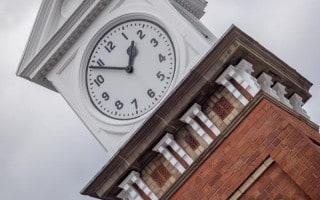 Station clock at Altrincham Interchange