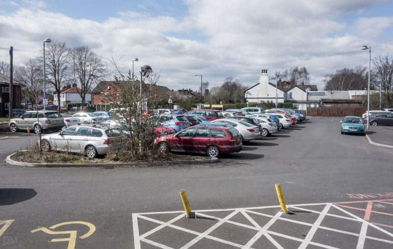 Park-and-ride car park at Navigation Road Train Station