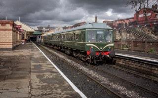Train to Rawtenstall at Bury Bolton Street Train Station, East Lancashire Railway.