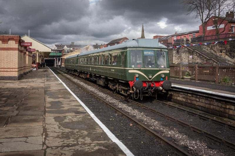Train to Rawtenstall at Bury Bolton Street Train Station, East Lancashire Railway.