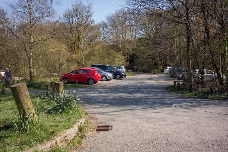 Car park on Batridge Road at Turton and Entwistle Reservoir