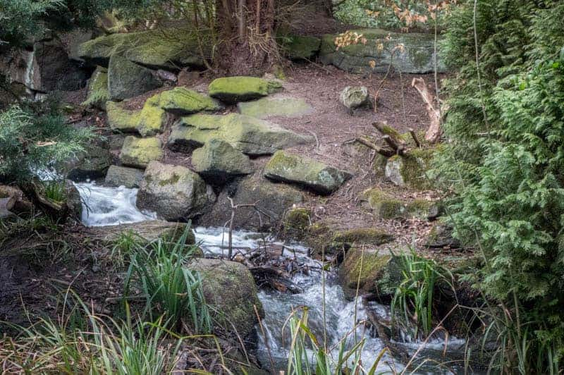 Waterfall at Western Pleasure Grounds in Heaton Park, Manchester