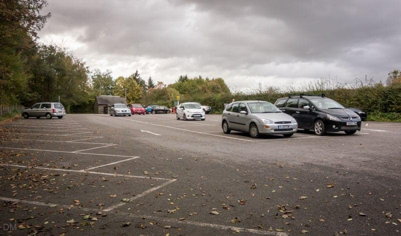 Car park at Jumbles Country Park, Bolton