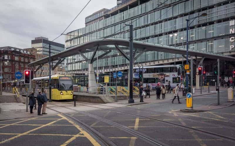 Shudehill Bus Station, Metrolink Station and NCP Manchester Printworks car park