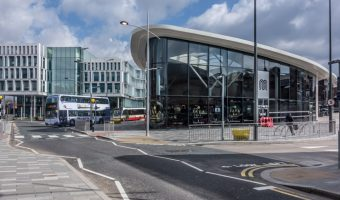 View of Rochdale Interchange (Rochdale Bus Station) and Number One Riverside