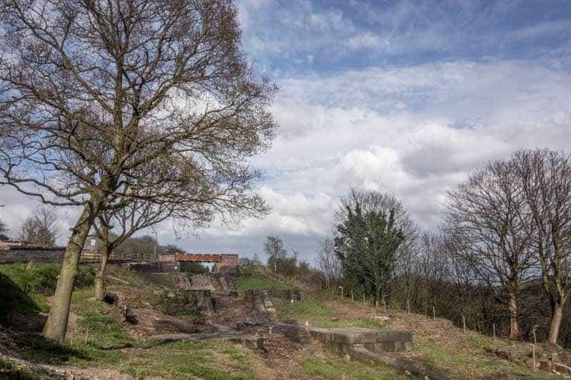 Prestolee Locks and the Meccano Bridge at Nob End, Farnworth, Bolton