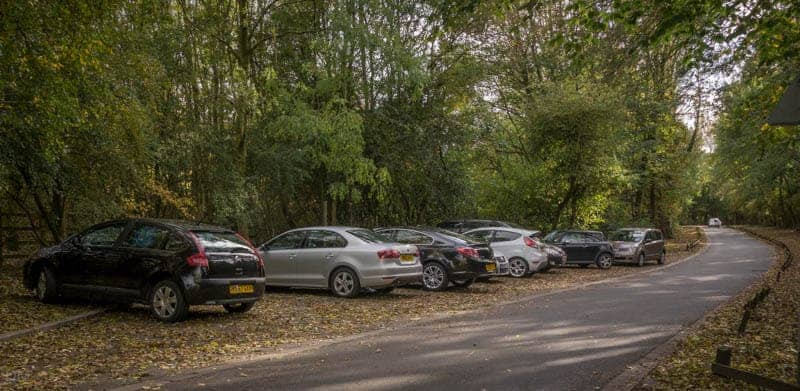 Free parking area at Pennington Flash Country Park