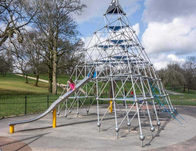 Climbing frame at Queens Park in Bolton