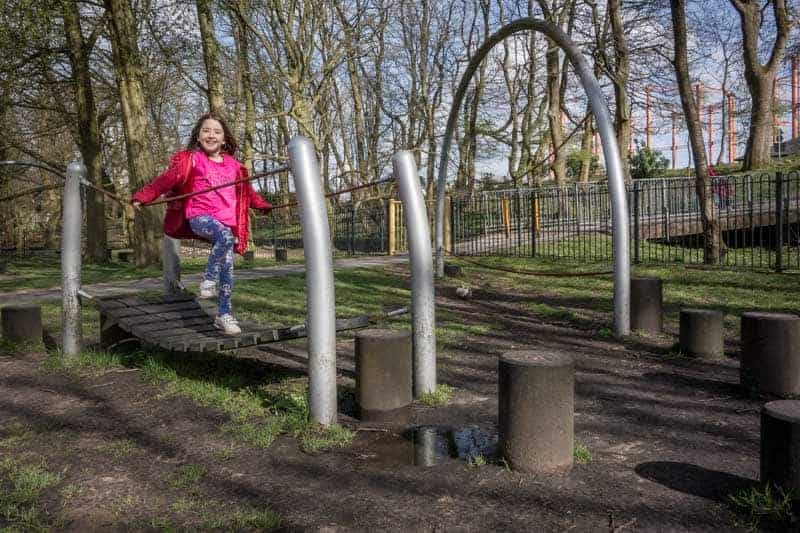 Adventure course at Queens Park, Bolton
