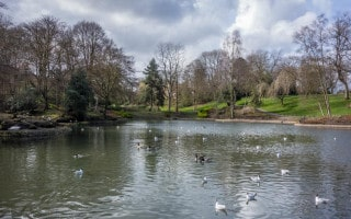 Lake at Queens Park, Bolton
