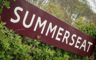 Sign at Summerseat Train Station, East Lancashire Railway