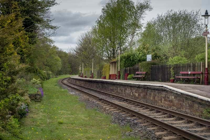 Platform at Summerseat Train Station, East Lancashire Railway