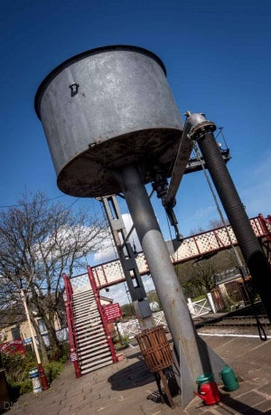 Water tank and footbridge at Ramsbottom Train Station