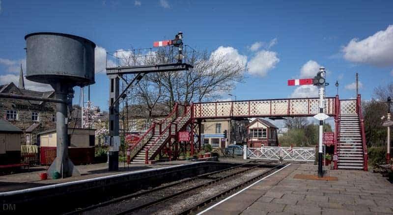 Water tank and footbridge at Ramsbottom Train Station