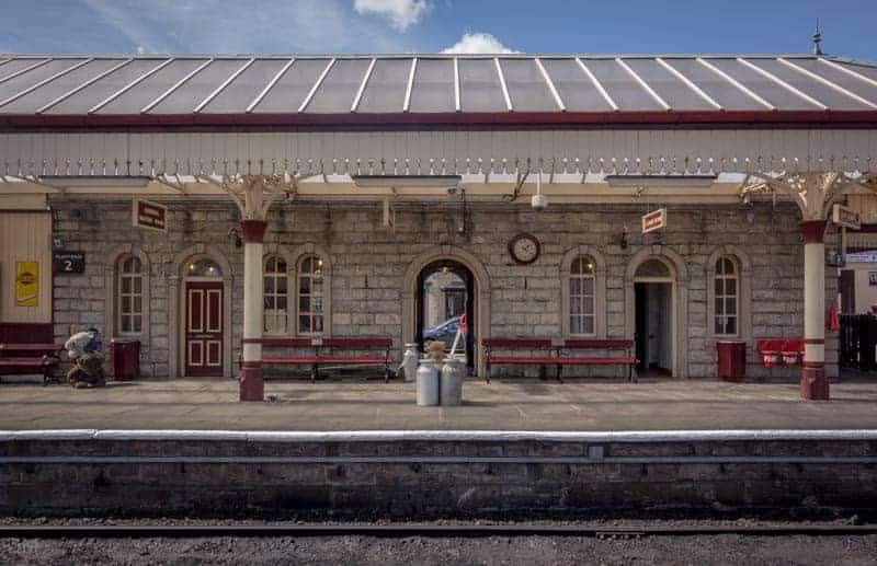 Platform at Ramsbottom Train Station on the East Lancashire Railway