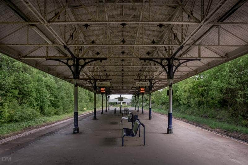 Platforms and canopy at Atherton Train Station