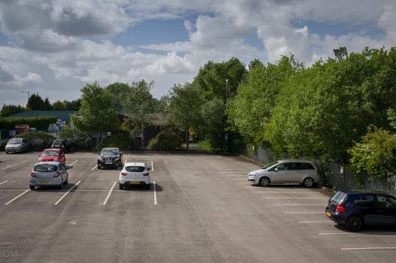 Car park at Atherton Train Station