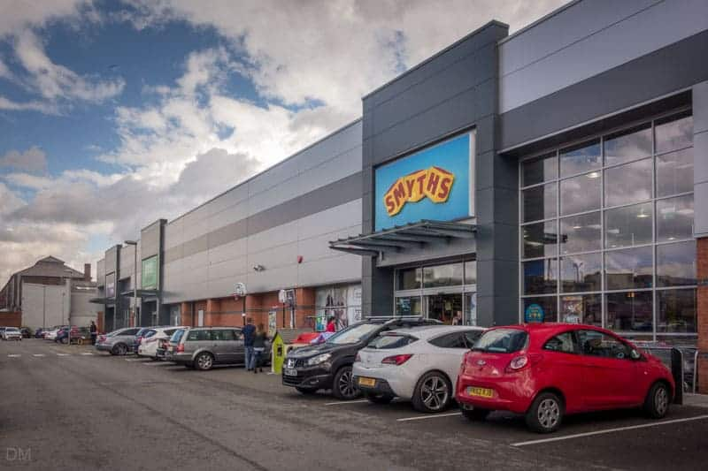 Smyths Toys at Halls Mill Retail Park in Bury, Greater Manchester