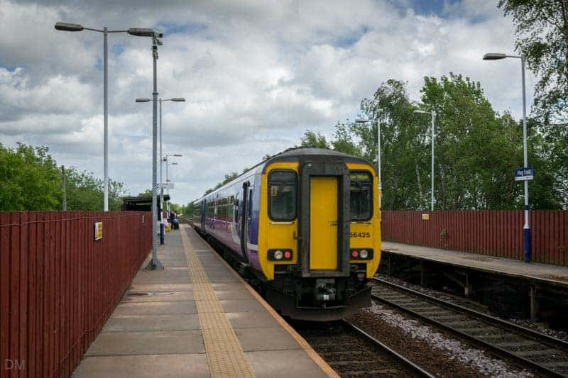 Wigan Wallgate train at Hag Fold Train Station