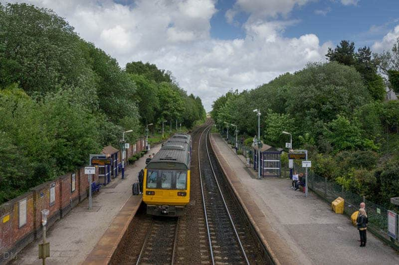 Train at platform of Hindley Train Station