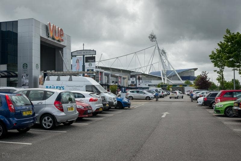 Vue Cinema and the Macron Stadium at Middlebrook Retail and Leisure Park in Bolton