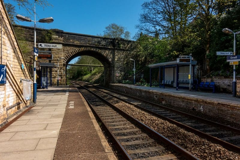 Platforms at Orrell Train Station, Orrell, Wigan