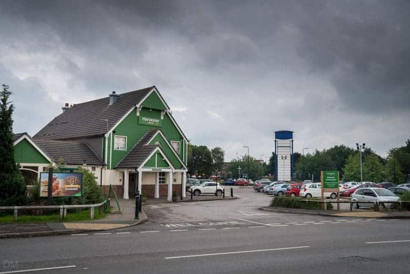 Harvester pub at Parsonage Retail Park in Leigh.