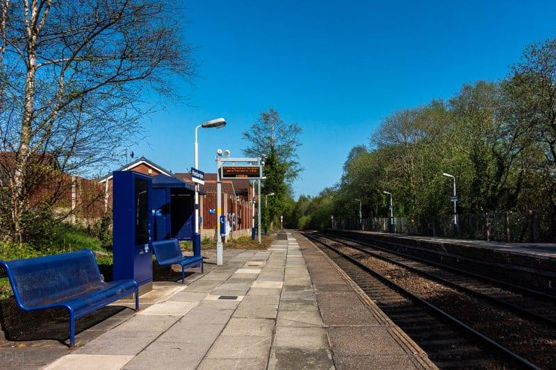 Platforms at Pemberton Train Station, Wigan