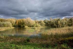 Clouds over Pennington Flash, Leigh, near Wigan.